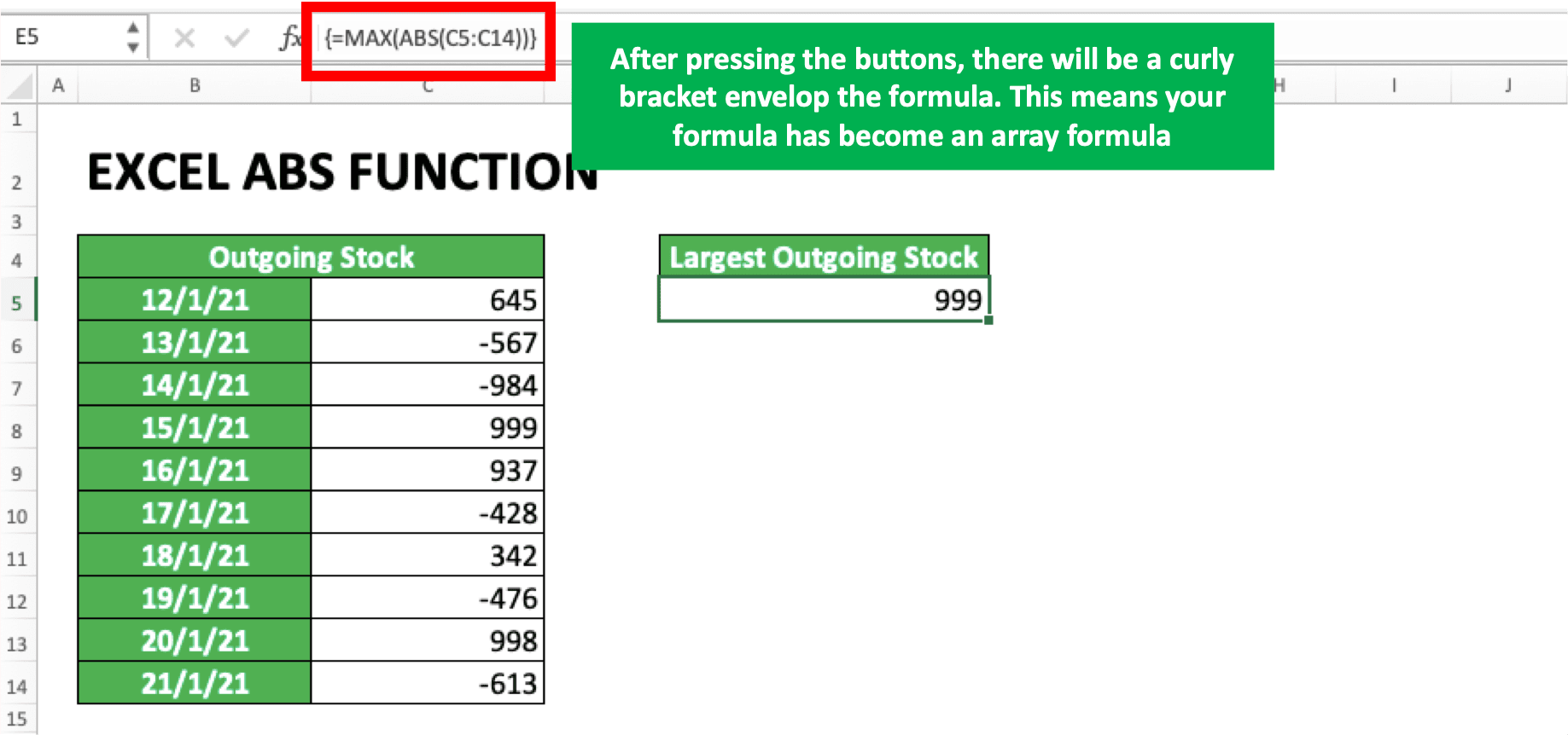 How to Use Excel ABS Function Usability, Examples, and Formula ...