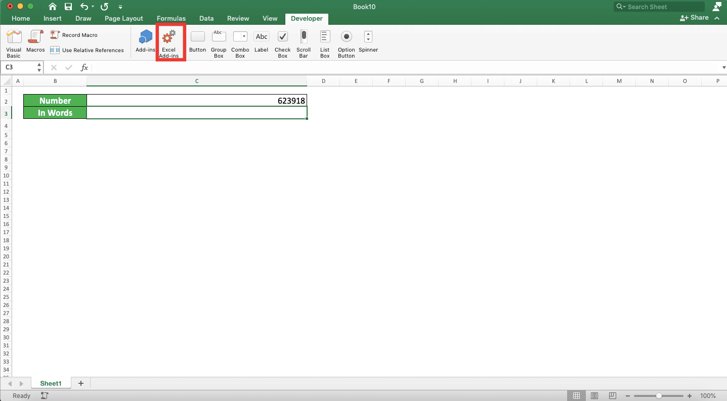 Formula For Convert Number To Words In Excel 20