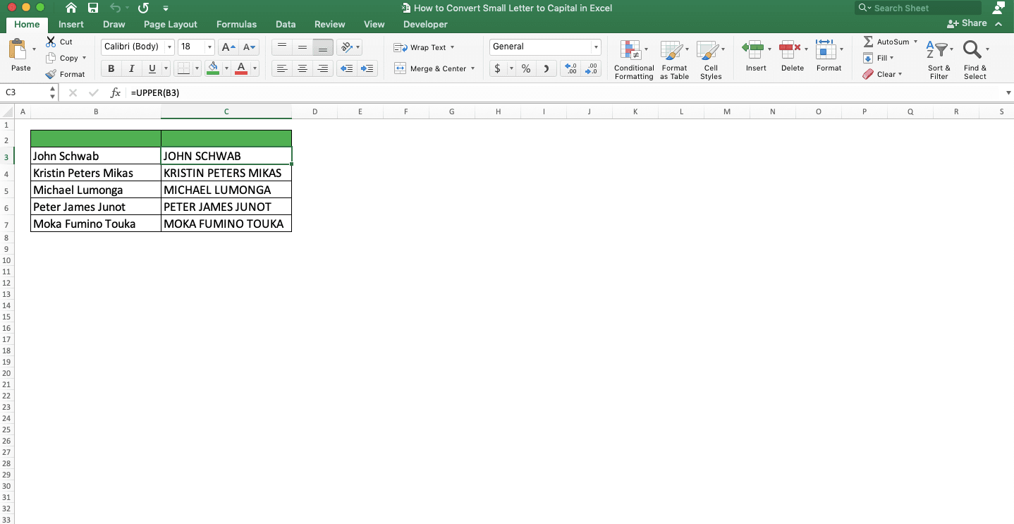 How to Convert Small Letters to Capital in Excel   Compute Expert